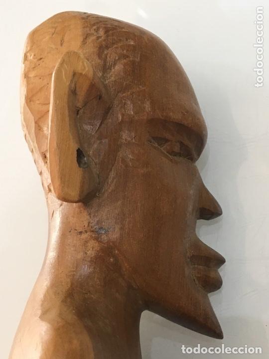 Arte: TALLA DE MADERA BUSTO AFRICANO - Foto 7 - 173901558