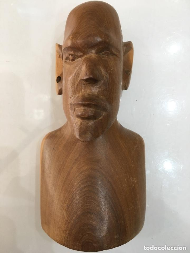 TALLA DE MADERA BUSTO AFRICANO (Arte - Étnico - África)