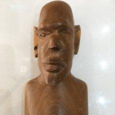 Arte: TALLA DE MADERA BUSTO AFRICANO. Lote 173901558
