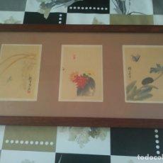Arte: CUADRO LAMINAS O LITOGRAFIAS (?) CON ESCENAS NATURALISTAS CHINA-JAPON (?) POSIBLES AÑOS 50. Lote 174033497