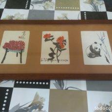 Arte: CUADRO LAMINAS O LITOGRAFIAS (?) CON ESCENAS NATURALISTAS CHINA-JAPON (?) POSIBLES AÑOS 50. Lote 174035220