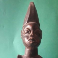Arte: CABALLERO AFRICANO EN MADERA TALLADA A MANO. MITAD SIGLO XX.. Lote 174059789