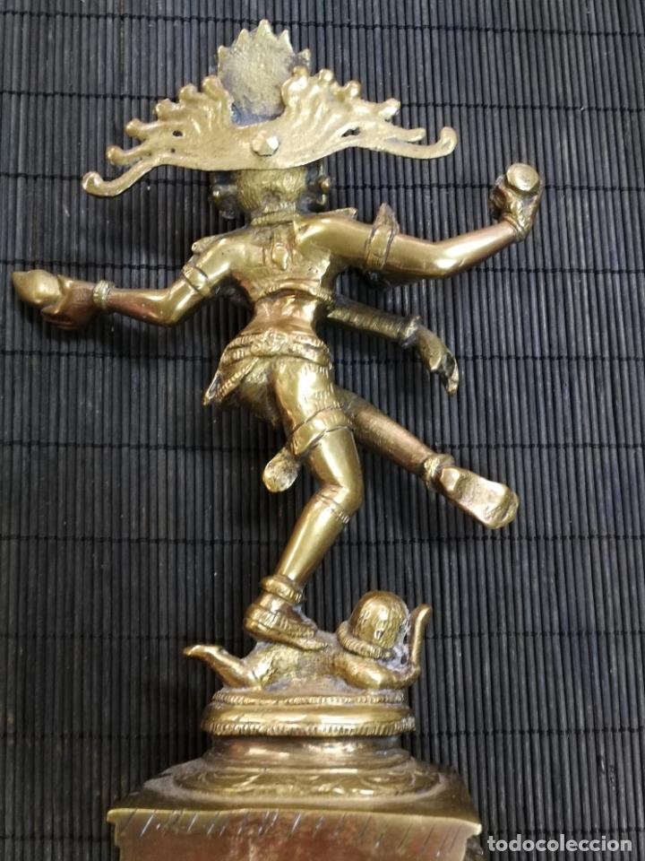 Arte: ANTIGUA ESPECTACULAR ESCULTURA DE BRONCE DE ARTE INDIA DIOSA KALI SHIVA SACRICIFIO RITUAL RELIGIOSO - Foto 4 - 174097817
