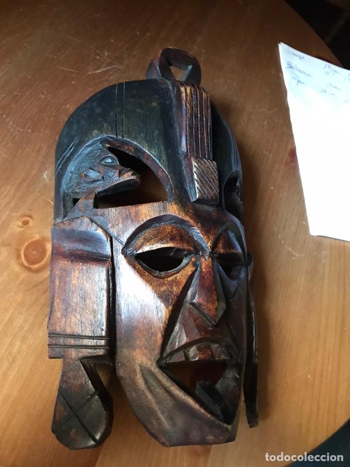 Arte: Máscara de madera de caoba Africana matrimonial - Foto 2 - 174463904