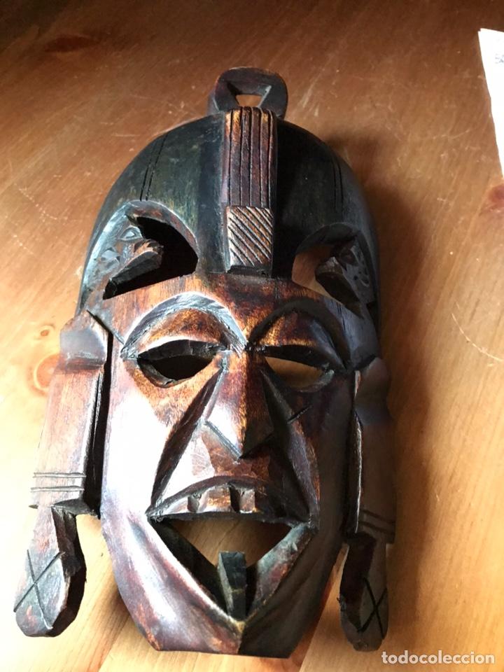 Arte: Máscara de madera de caoba Africana matrimonial - Foto 3 - 174463904