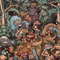 Arte: ILEGIBLE FECHADO EN BALI. TÉCNICA MIXTA SOBRE PAPEL. AÑOS 70. Lote 174953337