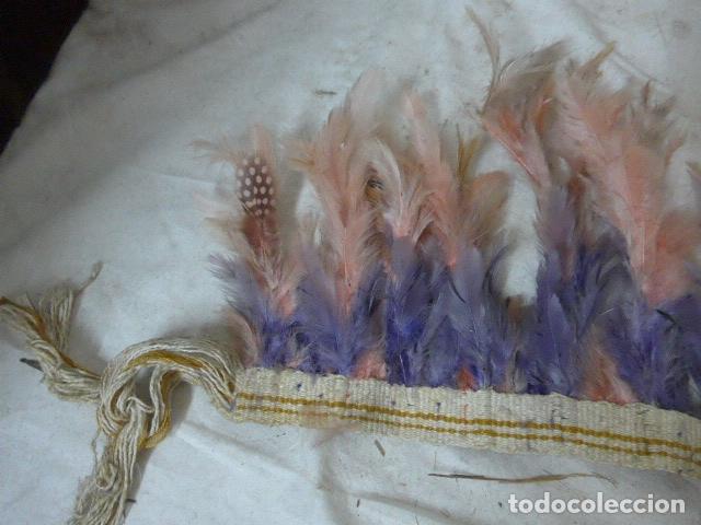 Arte: Antiguo plumaje plumas de indio de tribu del amazonas, original. - Foto 4 - 175160129