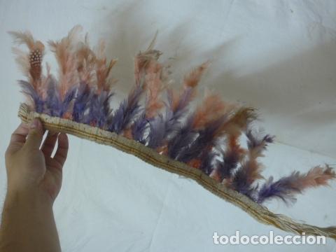 Arte: Antiguo plumaje plumas de indio de tribu del amazonas, original. - Foto 6 - 175160129