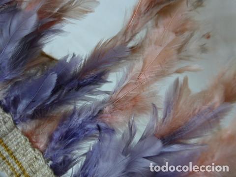 Arte: Antiguo plumaje plumas de indio de tribu del amazonas, original. - Foto 7 - 175160129