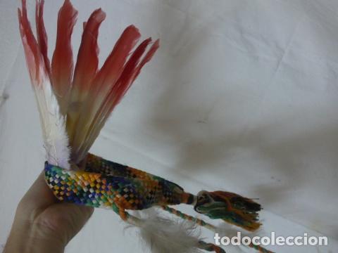 Arte: Antiguo plumaje plumas de indio de tribu del amazonas, original. - Foto 4 - 175160160