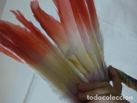 Arte: Antiguo plumaje plumas de indio de tribu del amazonas, original. - Foto 5 - 175160160