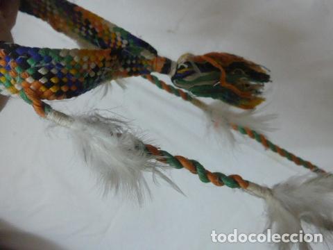 Arte: Antiguo plumaje plumas de indio de tribu del amazonas, original. - Foto 6 - 175160160