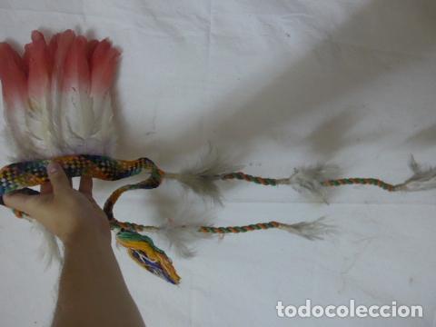 Arte: Antiguo plumaje plumas de indio de tribu del amazonas, original. - Foto 7 - 175160160