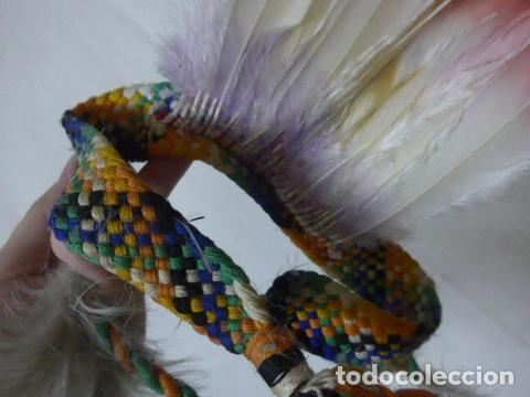 Arte: Antiguo plumaje plumas de indio de tribu del amazonas, original. - Foto 9 - 175160160