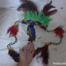 Arte: ANTIGUO PLUMAJE PLUMAS DE INDIO DE TRIBU DEL AMAZONAS, ORIGINAL.. Lote 175160300