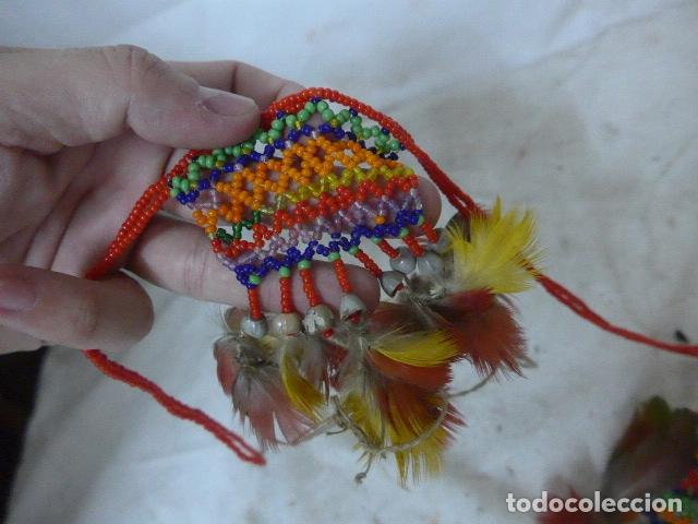 Arte: Antiguo plumaje plumas de indio de tribu wai wai del amazonas, original. - Foto 3 - 175160353