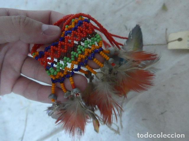 Arte: Antiguo plumaje plumas de indio de tribu wai wai del amazonas, original. - Foto 4 - 175160353