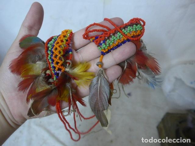 Arte: Antiguo plumaje plumas de indio de tribu wai wai del amazonas, original. - Foto 6 - 175160353