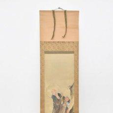 Arte: TINTA CHINA Y ACUARELA SOBRE PAPEL ASIATICA ROLLO IMAGEN, (DINASTIA QING). Lote 175238039