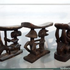 Arte: COLECCIÓN 3 REPOSACABEZAS AFRICANOS LUBA. Lote 175404864