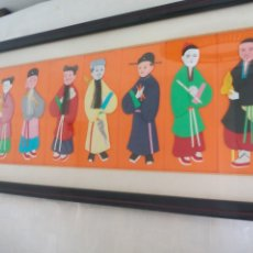 Arte: CUADRO JAPONÉS REALIZADO CON TÉCNICA KIMEKOMI O PATCHWORK CON TELAS DE JAPÓN. Lote 175766995