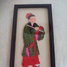 Arte: CUADRO JAPONÉS REALIZADO CON TÉCNICA KIMEKOMI O PATCHWORK CON TELAS DE JAPÓN. Lote 175767313