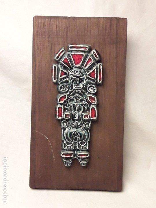 Arte: Bello cuadro cerámica vidriada antiguo chamán o cacique Venezuela - Foto 3 - 229284055