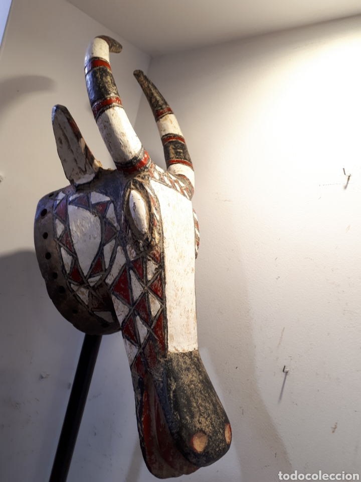 Arte: Máscara africana con soporte Burkina Faso - Foto 5 - 176060699