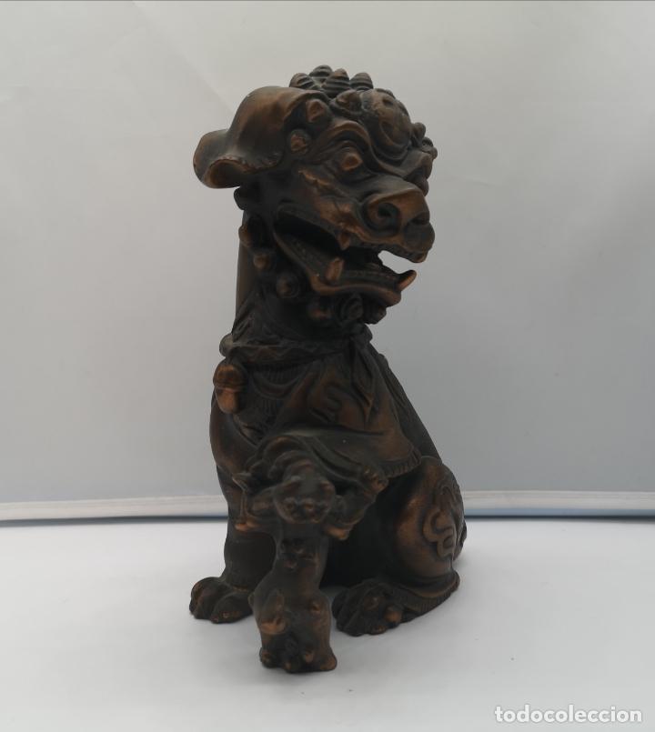 Arte: Imagen antigua de León Fu protector de la ciudad prohibida de Pekín . - Foto 5 - 176119274