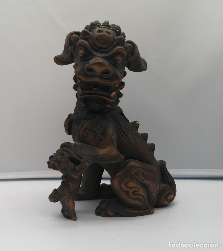 Arte: Imagen antigua de León Fu protector de la ciudad prohibida de Pekín . - Foto 6 - 176119274