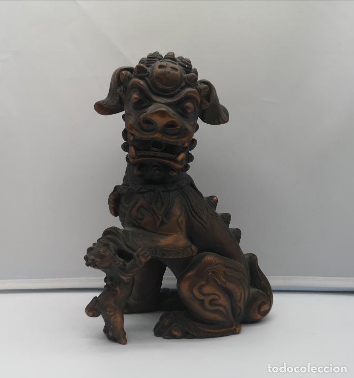 IMAGEN ANTIGUA DE LEÓN FU PROTECTOR DE LA CIUDAD PROHIBIDA DE PEKÍN . (Arte - Étnico - Asia)