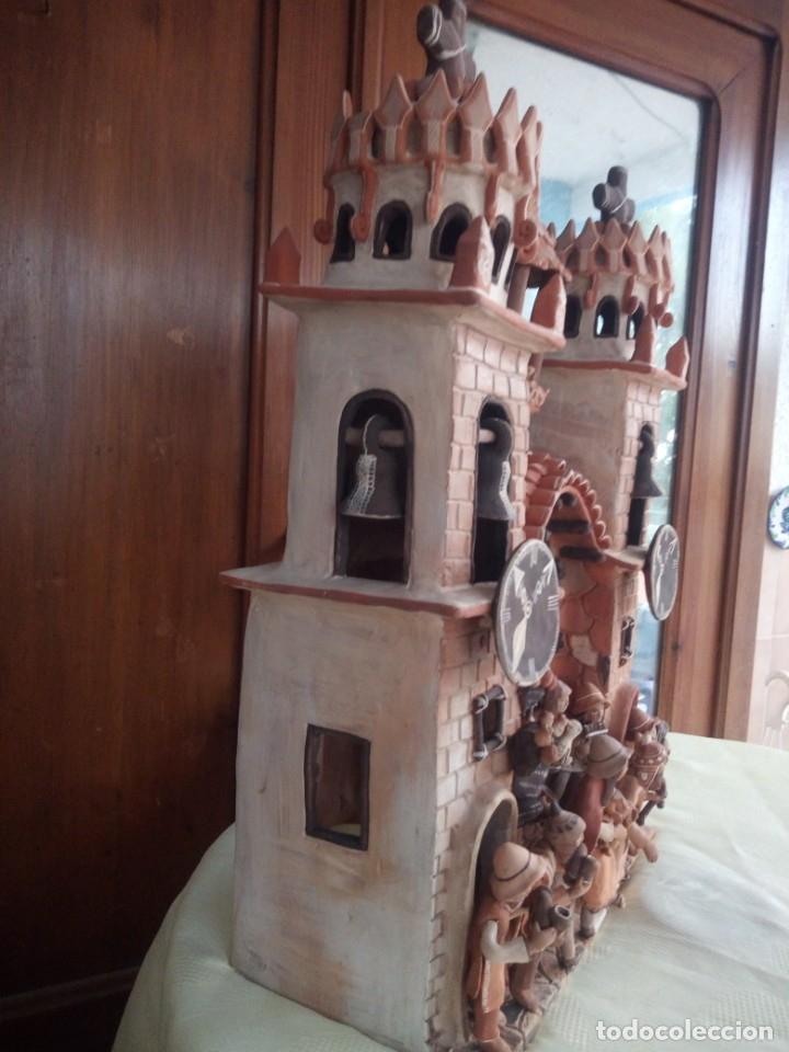 Arte: iglesia cerámica magno huasacca,suyjaruna,con personajes.artesanía,muy detallada.años 70/80,peru - Foto 11 - 177954178