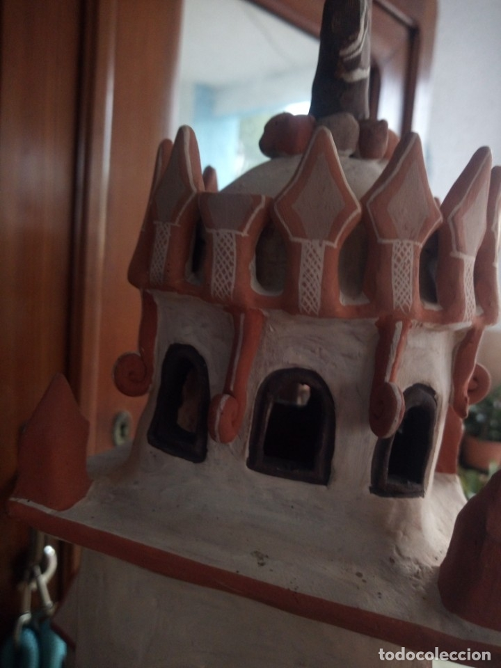 Arte: iglesia cerámica magno huasacca,suyjaruna,con personajes.artesanía,muy detallada.años 70/80,peru - Foto 12 - 177954178