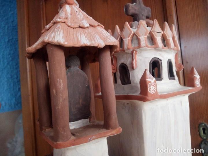 Arte: iglesia cerámica magno huasacca,suyjaruna,con personajes.artesanía,muy detallada.años 70/80,peru - Foto 20 - 177954178