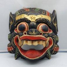 Arte: IMPRESIONANTE MASCARA ANTIGUA BALINESA DE BARONG EN MADERA TALLADA Y POLICROMADA A MANO, INDONESIA .. Lote 178310756