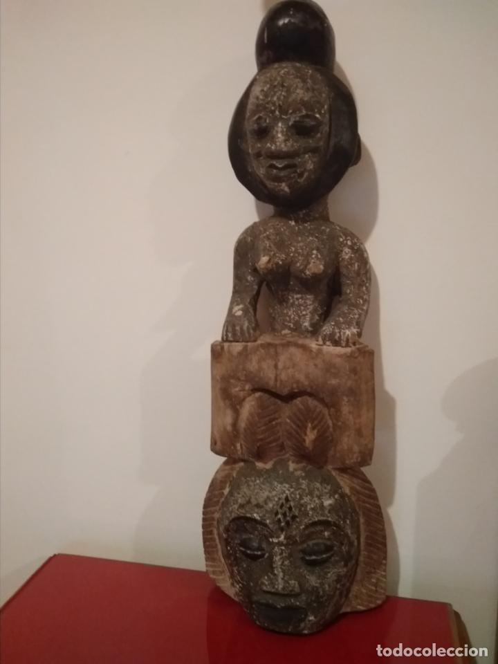 ESCULTURA ETNIA PUNU DE GABON SIGLO XIX (Arte - Étnico - África)