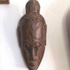 Arte: MÁSCARA ASIÁTICA, BUDA O DIOSA INDIA. Lote 178795455