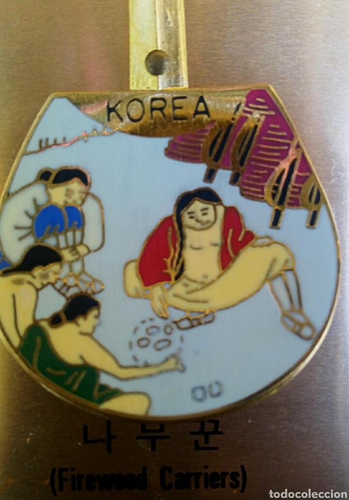Arte: Cucharas coreanas de oficios asiaticos. Con esmaltes y oro de ley. En su estuche para ser espuestas. - Foto 3 - 179314563