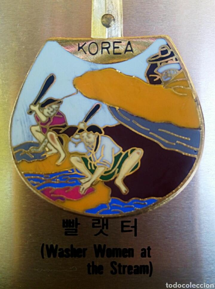 Arte: Cucharas coreanas de oficios asiaticos. Con esmaltes y oro de ley. En su estuche para ser espuestas. - Foto 4 - 179314563