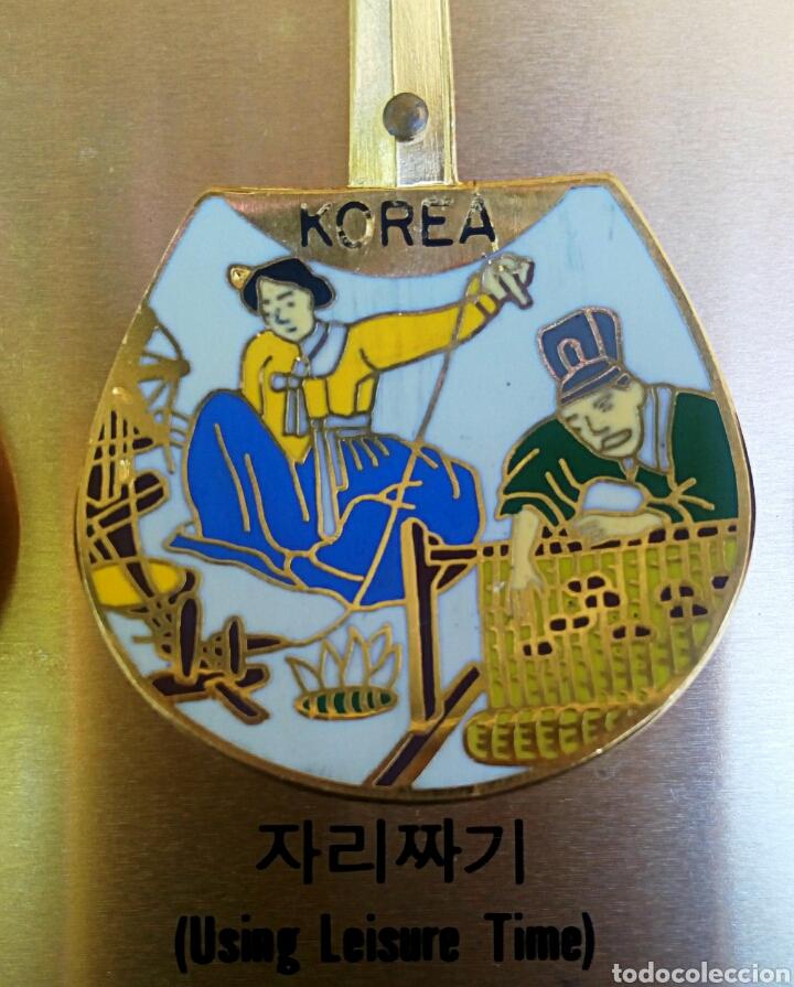 Arte: Cucharas coreanas de oficios asiaticos. Con esmaltes y oro de ley. En su estuche para ser espuestas. - Foto 5 - 179314563