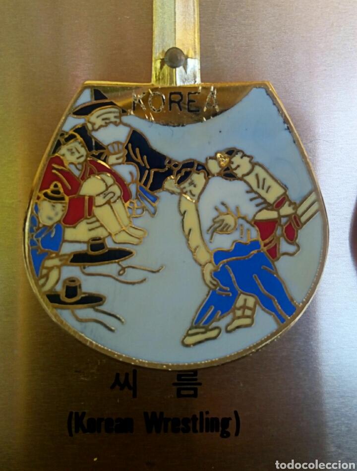 Arte: Cucharas coreanas de oficios asiaticos. Con esmaltes y oro de ley. En su estuche para ser espuestas. - Foto 7 - 179314563