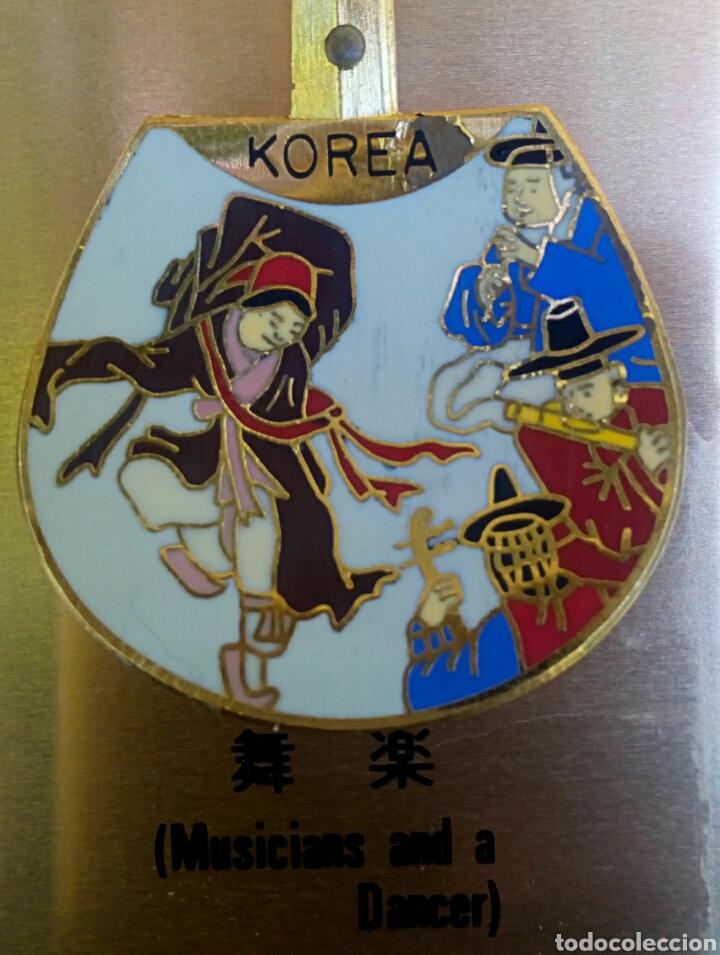 Arte: Cucharas coreanas de oficios asiaticos. Con esmaltes y oro de ley. En su estuche para ser espuestas. - Foto 8 - 179314563