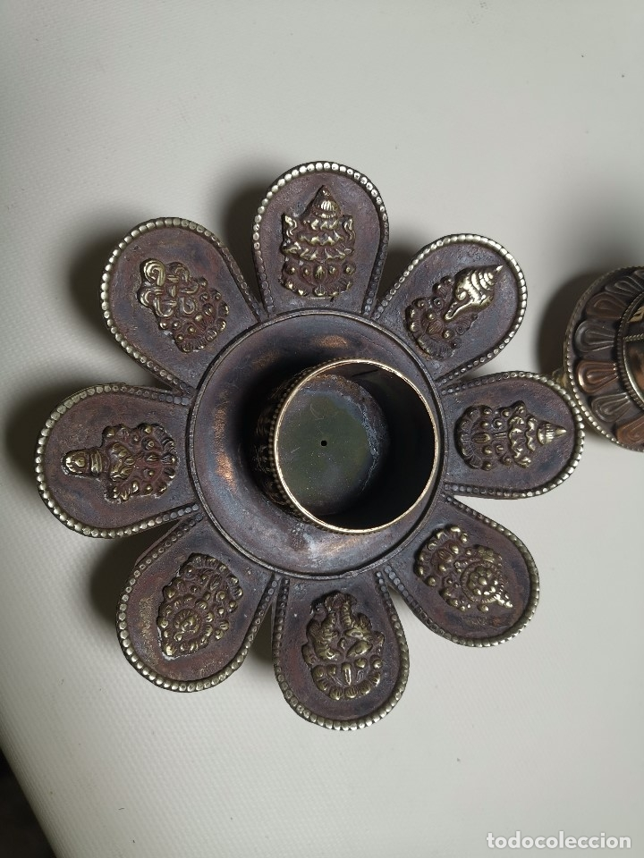 Arte: Antiguo Quemador de incienso tibetano -INCENSARIO CHINA - tibet -flor de loto - Foto 16 - 179954808