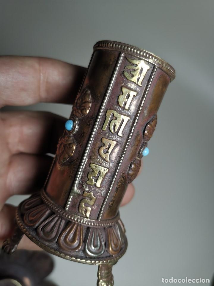 Arte: Antiguo Quemador de incienso tibetano -INCENSARIO CHINA - tibet -flor de loto - Foto 18 - 179954808