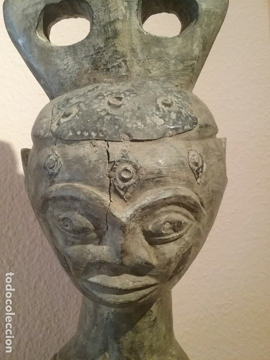 Arte: Talla africana de 45 CM. - Foto 5 - 180260427