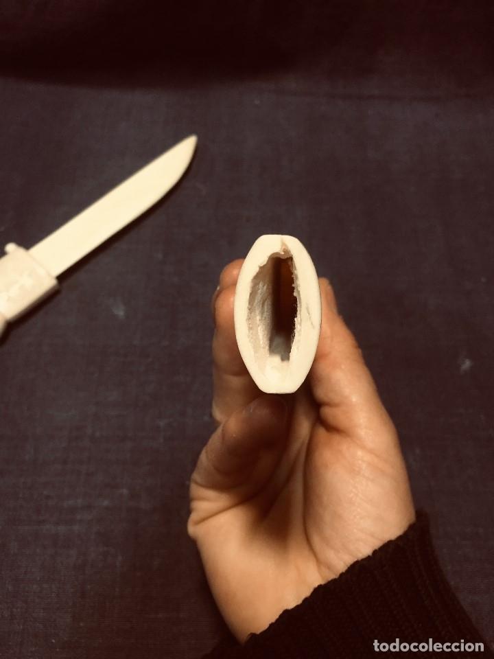 Arte: puñal cuchillo hueso tallado cazador perros oso esquimal aves groenlandia escandinavia MITAD s xx - Foto 26 - 180327856