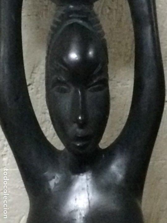 Arte: TALLA MUJER AFRICANA SIGLO XX - Foto 2 - 180387858