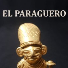 Arte: CHAMAN CURANDERO FIGURA PRECOLOMBINA QUIMBAYA DE ORO TUMBAGA PESO 64,5 GRAM - Nº3. Lote 180949282