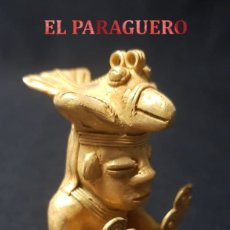 Arte: CHAMAN HOMBRE AVE PRECOLOMBINA TAIRONA DE ORO TUMBAGA PESO 87,7 GRAM - Nº37. Lote 180968536