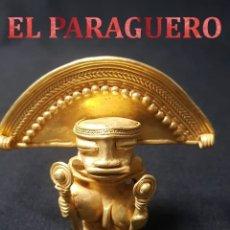 Arte: CHAMAN PRECOLOMBINA TAIRONA DE ORO TUMBAGA PESO 78,3 GRAM - Nº39. Lote 180969818